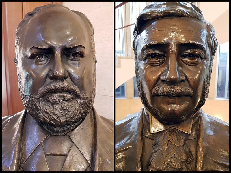 Sculptures of Sir John Forrest and James Lee Steere busts