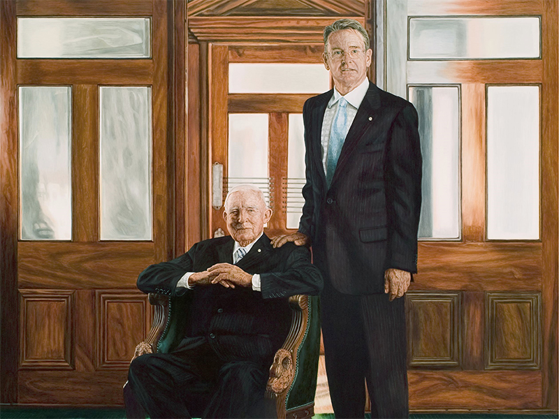 Painting of the Sir Charles and Richard Court
