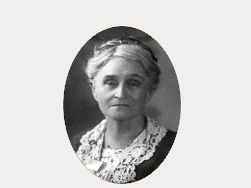Oval portrait of Edith Cowan