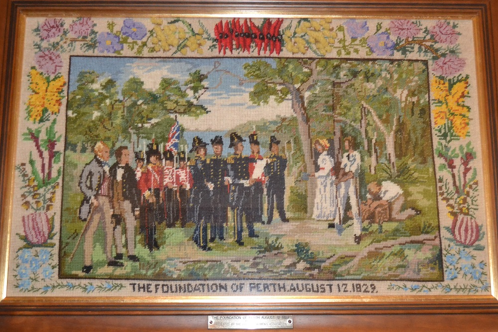 Tapestry depicting the Foundation of Perth, 12 August 1829, by the Country Women's Association