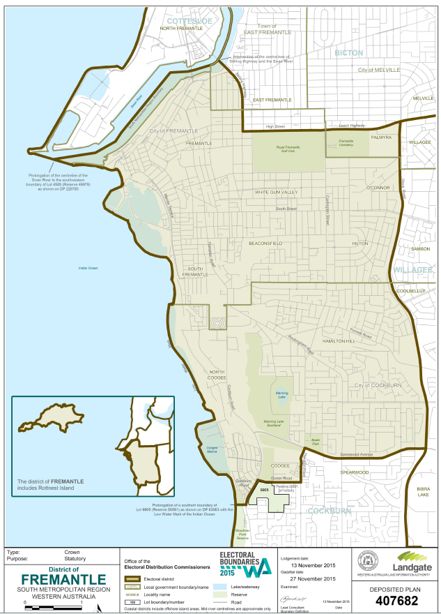 Fremantle Electorate map