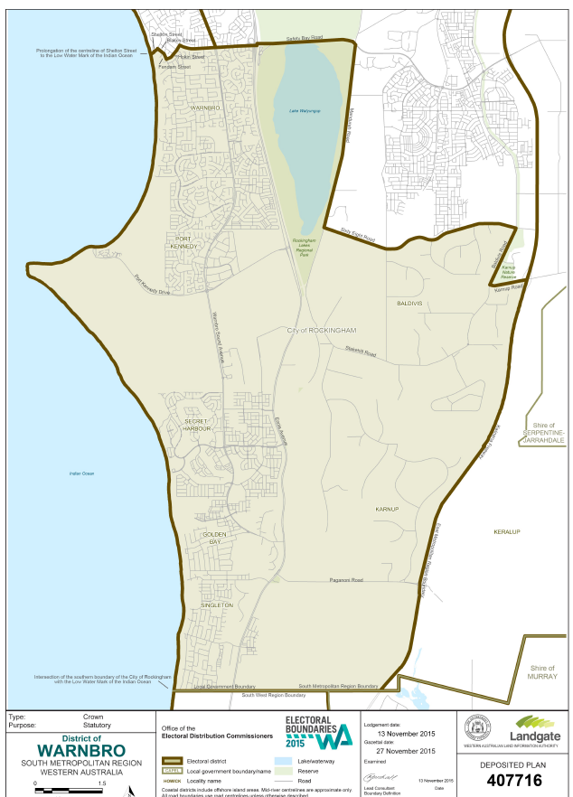 Warnbro Electorate map