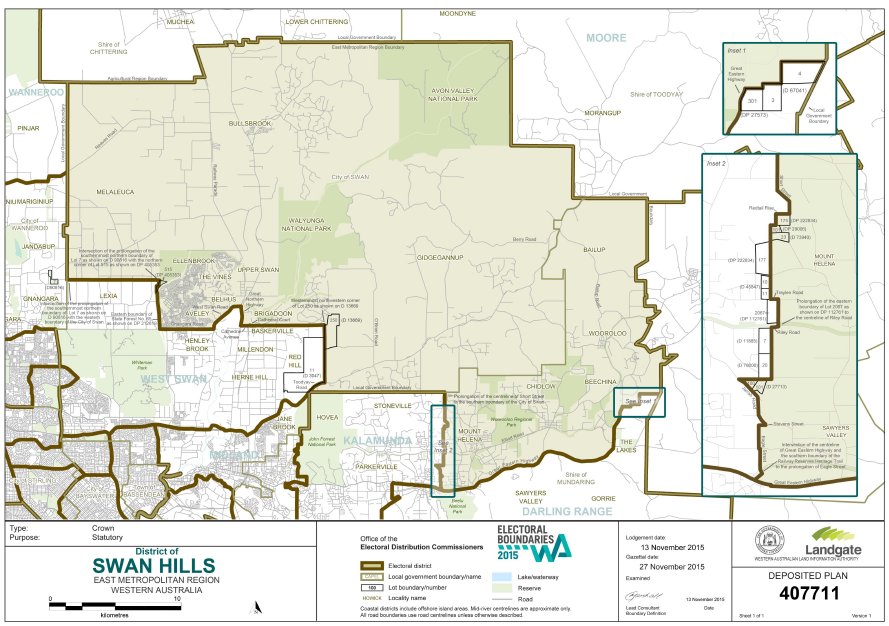 Swan Hills Electorate map